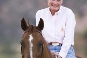 older woman with sorrel Quarter horse gelding in Grand Junction, CO